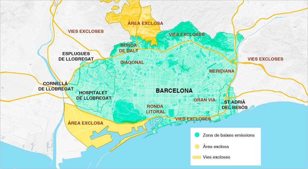 Zona De Bajas Emisiones Zbe Rondas De Barcelona Departamento De